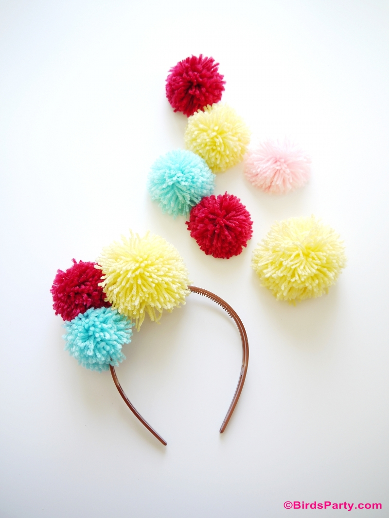 DIY Pompom Headband and Fashion Accessories