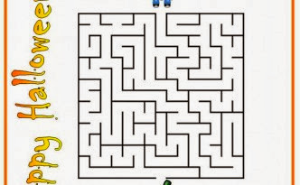 Halloween Maze printable - easy for kids 4