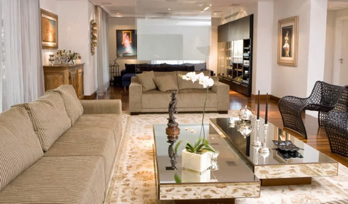 Salas De Estar Luxuosas E Modernas ~ 40 Salas de Estar Decoradas + Dicas e Tendências!  DecorSalteado