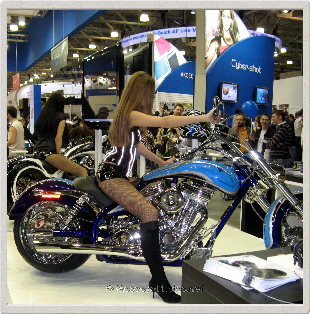 Hot Moscow girls on motorbikes