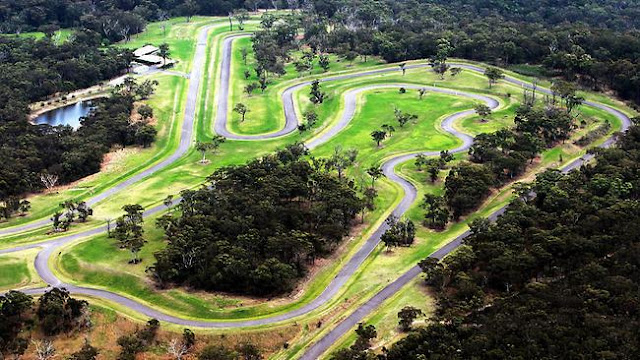 Private Racetrack - 5.1km Formula One-style track with 22 turns, described by one motorsport champion as the second-best track in the world.The track, which is said to have cost $10 million, was built by car enthusiast and former Coca-Cola Amatil boss Dean Wills