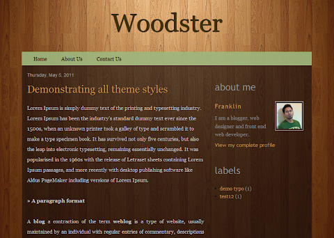 Woodster Blogger Theme