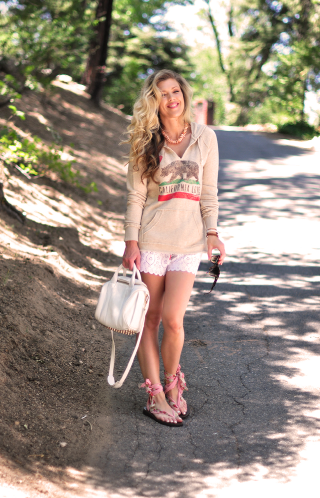 California Love, cute shorts, Sseko sandals