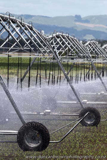 Irrigating crops near Ongaonga photograph