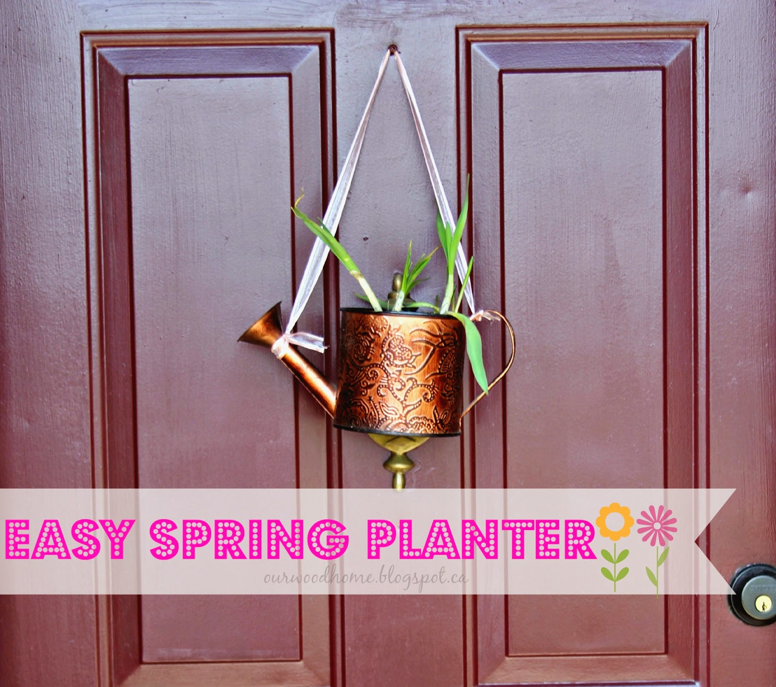 spring door decoration