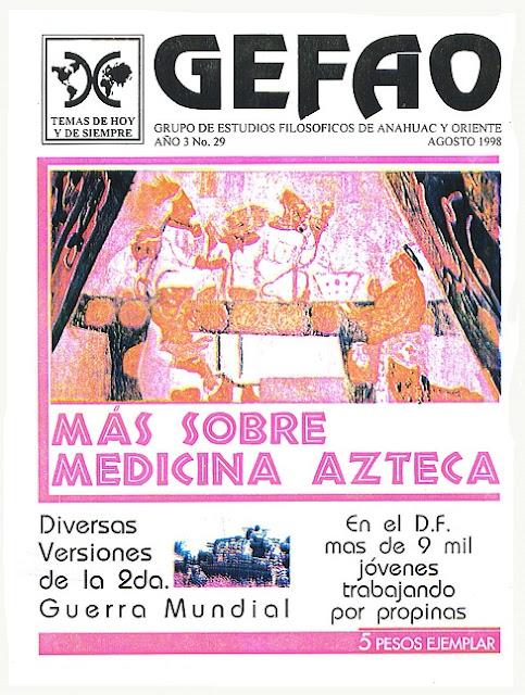 REVISTA GEFAO No 29 MAS SOBRE MEDICINA AZTECA