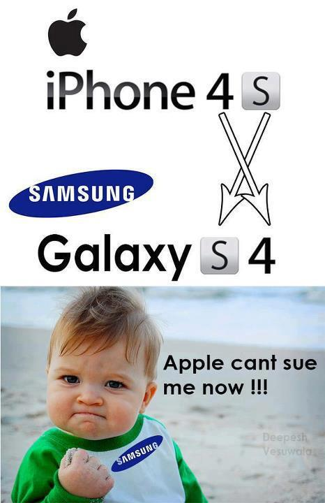 Samsung Galaxy S4 Vs Iphone 4S Meme
