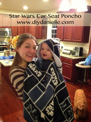 How to make your own car seat poncho for car seat safety.