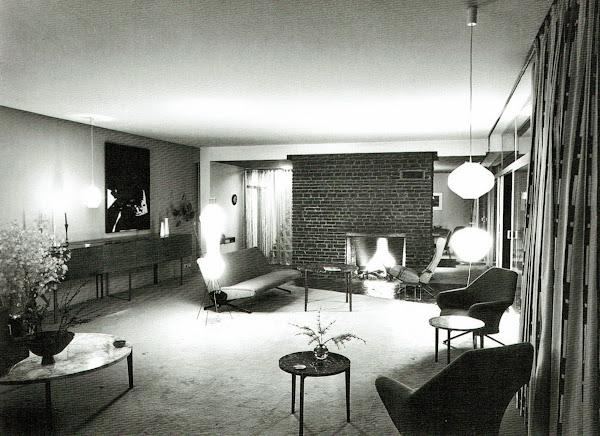 Bruxelles - Uccle - Maison Bandin  Architecte: Constantin L. Brodzki  Construction: 1956 - 1957
