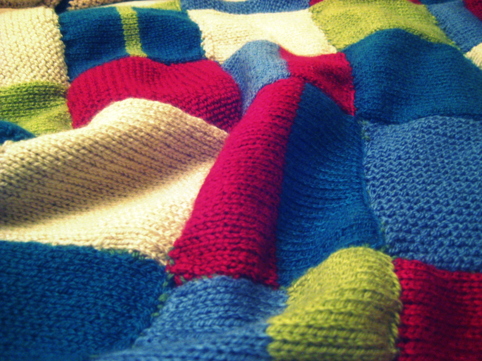Knitting Pattern Patchwork Afghan : Mere frivolity: Ive been knitting