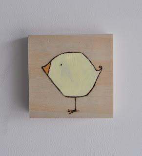yellow bird painting