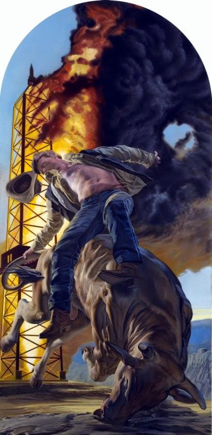 Nicola Verlato pinturas foto-realistas surreais explosões corpos voando acidente carro