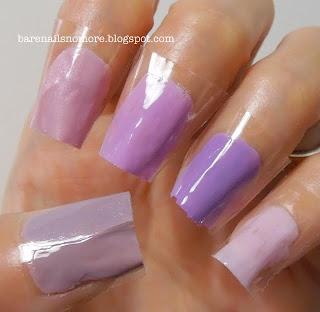 Comparison of lavender/pink polishes