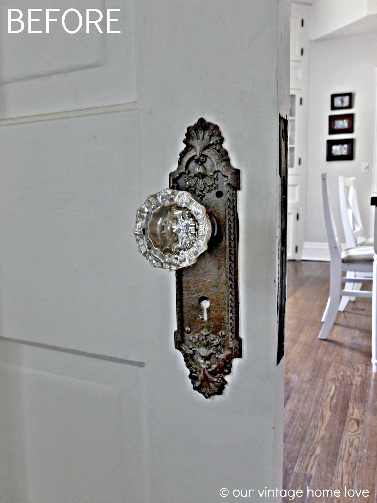 Pocket Doors and Porcelain Door Knobs - Our Vintage Home Love: Pocket Doors And Porcelain Door Knobs
