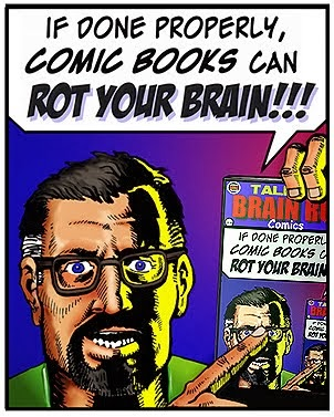 COMICS CAN ROT YOUR BRAIN!