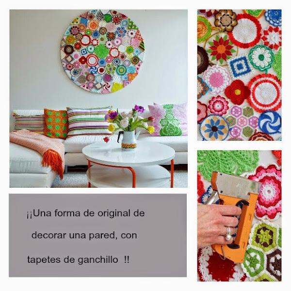Cuadros de ganchillo decorar tu casa es - Como decorar una pared con cuadros ...
