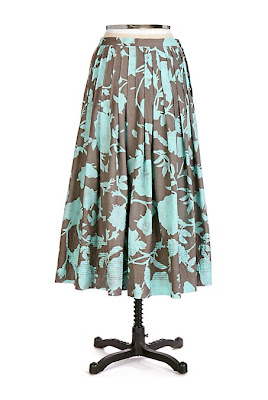 Anthropologie Aquatic Bud Skirt