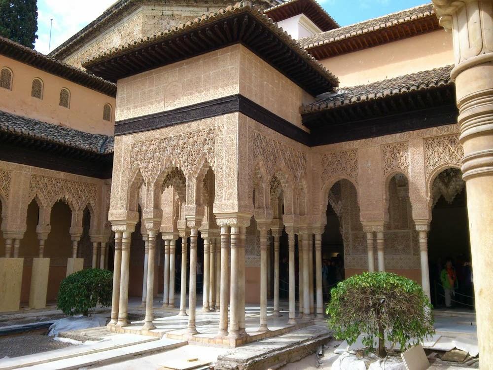 Mis viajes por el mundo palacio de los leones alhambra for Jardines nazaries