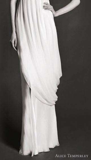 Sometimes a simple greek goddess dress like this Alice Temperley creates the