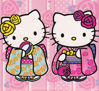 Hello Kitty Happy New Kimono Jepang