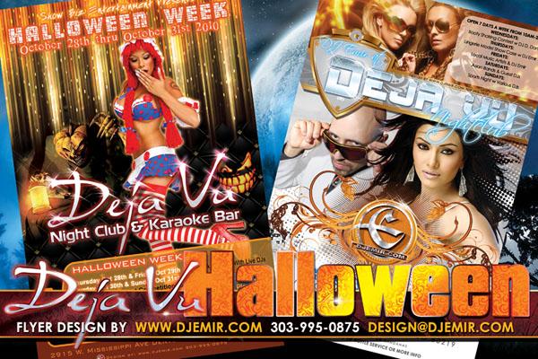 Deja Vu Nightclub Halloween Flyer