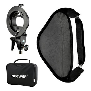 "Neewer Photo Studio Multifunctional 32x32""/80x80cm Softbox with S-type Speedlite Flash Bracket Mount and Carrying Case"