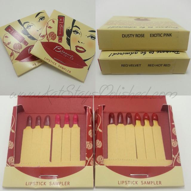 Besame Cosmetics - Lipstick Sampler - Giveaway