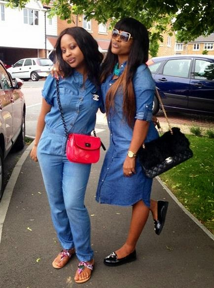 Nollywood by Mindspace: MERCY AIGBE SHOWS OFF HER BEAUTIFUL SISTER