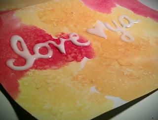 glue on DIY valentine