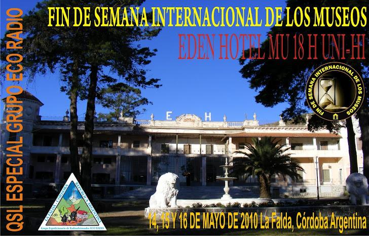 QSL Museo del Hotel Edén, La Falda Córdoba.
