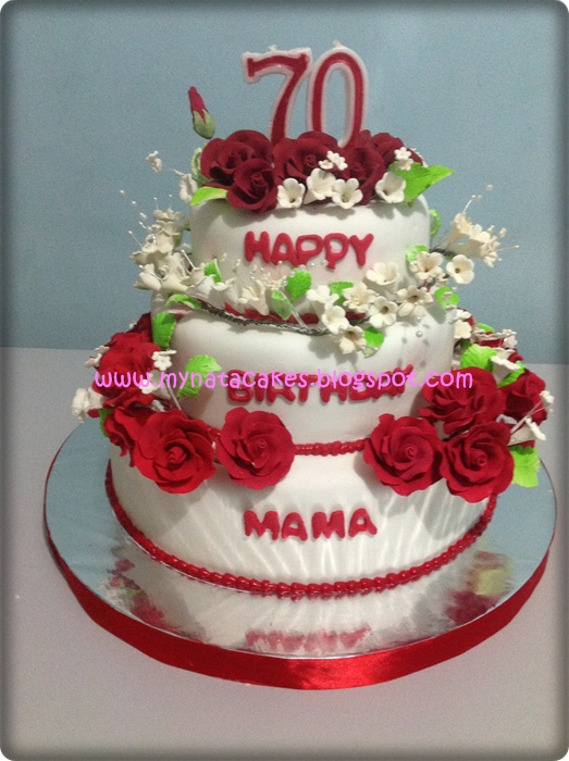 Mynata Cakes Flower birthday cake for mama