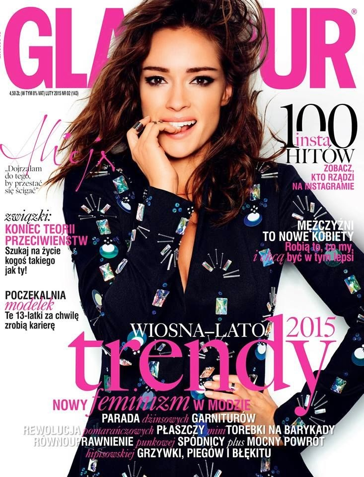 Actress, Singer: Alicja Bachleda - Glamour, Poland, February 2015