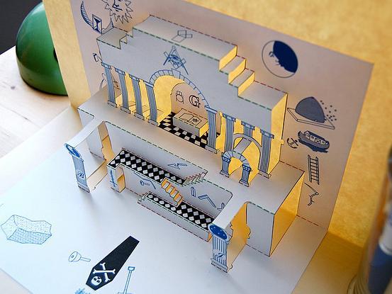 Masonic Pop-Up << papercraft designs art
