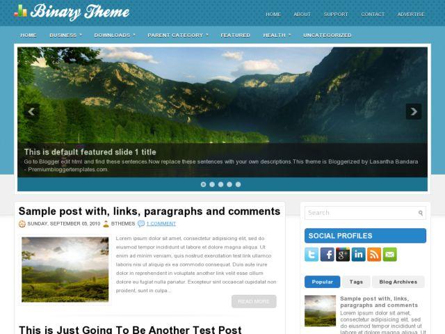 Bynary Blogger Template