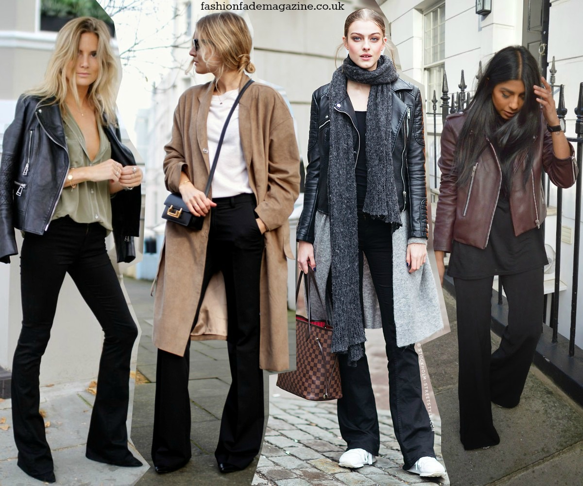 ways-to-wear-flares-trend-fall-winter-2014-2015-streetstyle-outfits-looks-flares-flared-jeans-pants-trousers-black-tailored