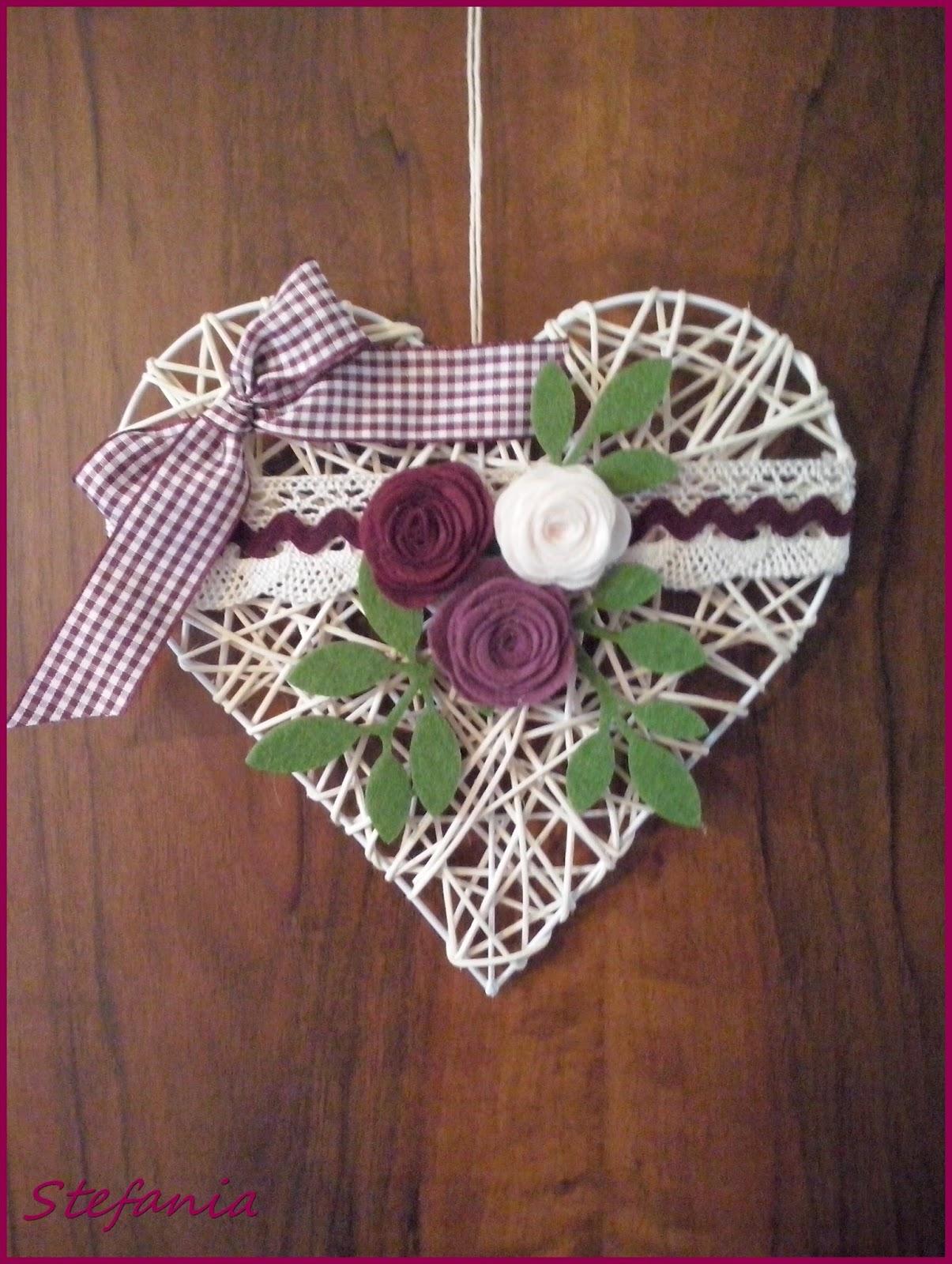 L 39 angolo di stefania un cuore per una giovane coppia di sposi - Cuore da appendere alla porta ...