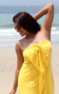 Tashu Kaushik  Pictureshoot Gallery in Strapless Yellow Dress  0021