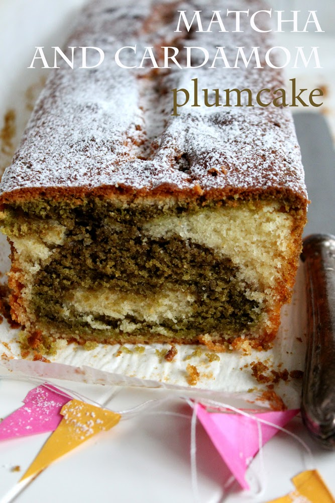 Matcha and cardamom plumcake photo rebeca sendroiu