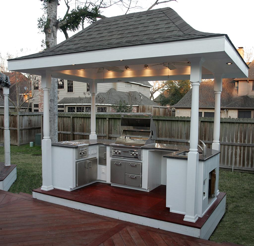 March 2013 backyard and patios for Small backyard outdoor kitchen