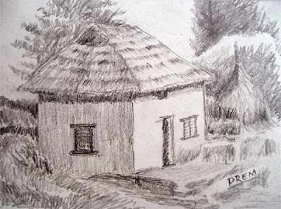 Sketch of Ordinary Rural House