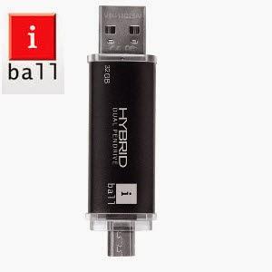 Cromaretail.com: Buy iBall Hybrid Dual (Usb + Micro-B) Pendrive 8GB Rs.299 : Buytoearn