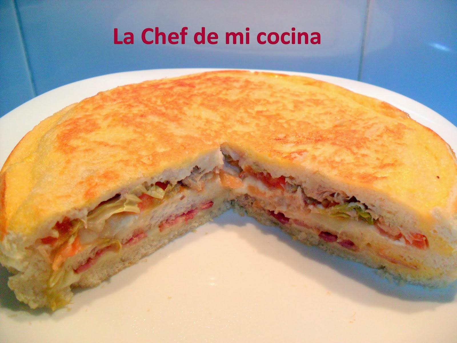 La chef de mi cocina sandwich n en la multicook pro de - Tefal multicook pro recetas ...