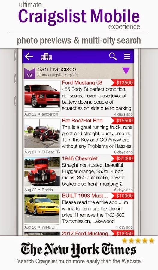 cPro Craigslist Client Droid en tus dispositivos android