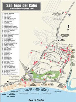 Mapa de San José del Cabo Político Región