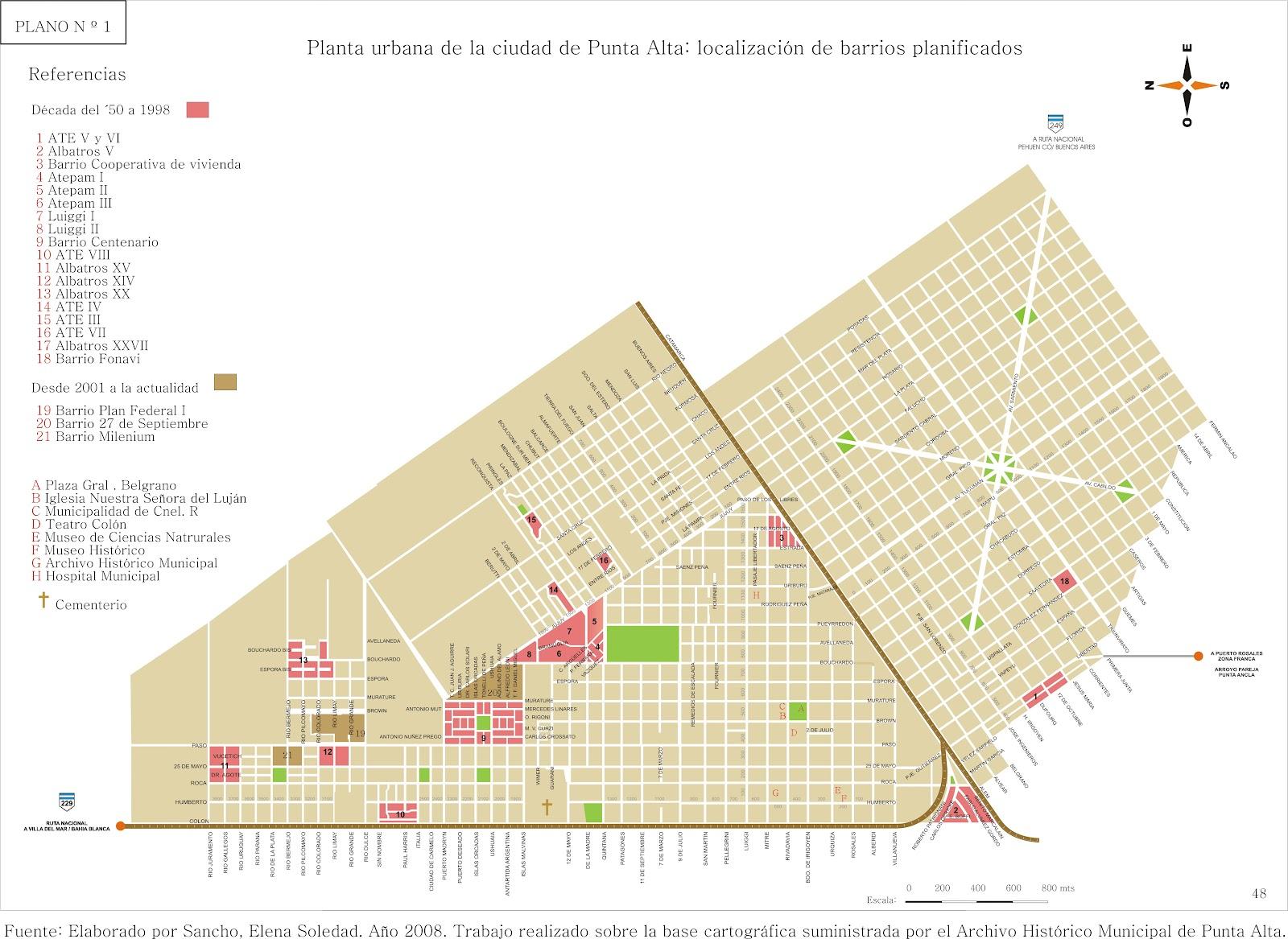 Geoperspectivas geografa y educacin dinmica territorial de la planta urbana de punta alta localizacin de barrios planificados sancho 2008 thecheapjerseys Images