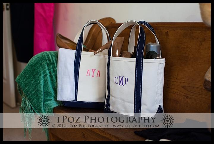 Annapolis Wedding bridesmaid gift bags