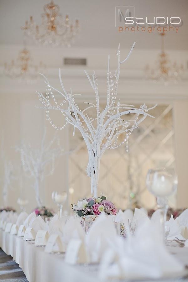 ślub I Wesele Lubelskie Dekoracja Sali Weselnej Zimą