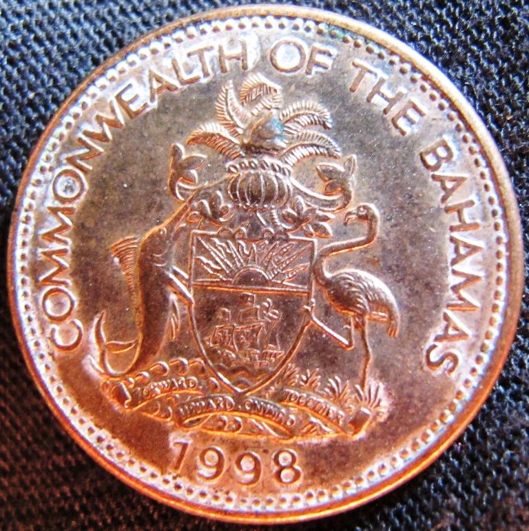 57h Central America North & Central America 25 Cents Queen Elizabeth Ii 1966 Bahamas