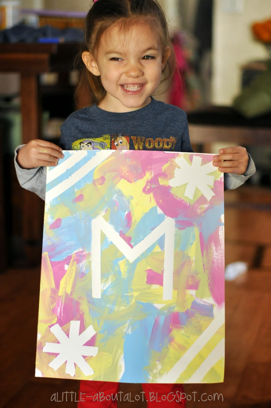 Colorful Inital Art | Kid Painting Craft | A little about a Lot