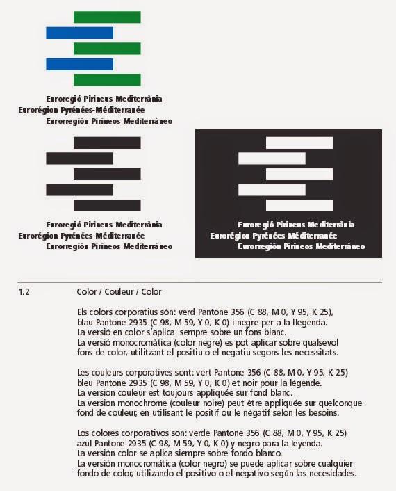Uso del color de identidad corporativa en la Eurorregión Pirineos Mediterráneo PDF